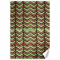 Zig Zag Multicolored Ethnic Pattern Canvas 12  X 18   by dflcprintsclothing