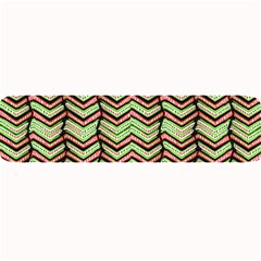 Zig Zag Multicolored Ethnic Pattern Large Bar Mats by dflcprintsclothing