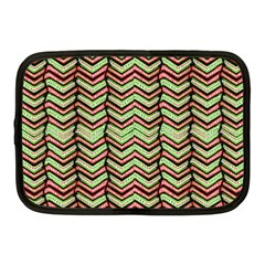 Zig Zag Multicolored Ethnic Pattern Netbook Case (medium)  by dflcprintsclothing