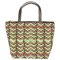 Zig Zag Multicolored Ethnic Pattern Bucket Bags by dflcprintsclothing