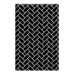 Brick2 Black Marble & White Leather (r) Shower Curtain 48  X 72  (small)  by trendistuff