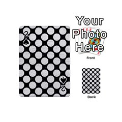 Circles2 Black Marble & White Leather (r) Playing Cards 54 (mini)  by trendistuff