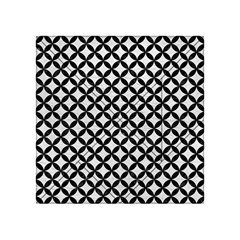 Circles3 Black Marble & White Leather Acrylic Tangram Puzzle (4  X 4 ) by trendistuff