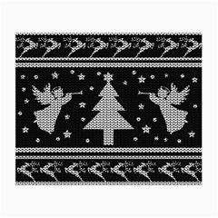 Ugly Christmas Sweater Small Glasses Cloth by Valentinaart