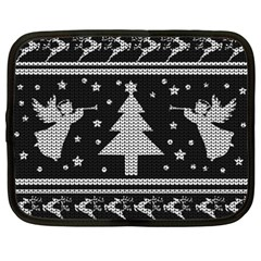 Ugly Christmas Sweater Netbook Case (xxl)  by Valentinaart