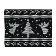 Ugly Christmas Sweater Cosmetic Bag (xl) by Valentinaart