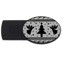 Ugly Christmas Sweater Usb Flash Drive Oval (4 Gb) by Valentinaart