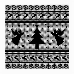 Ugly Christmas Sweater Medium Glasses Cloth by Valentinaart
