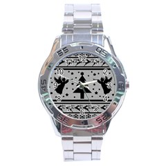 Ugly Christmas Sweater Stainless Steel Analogue Watch by Valentinaart