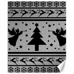 Ugly Christmas Sweater Canvas 16  X 20   by Valentinaart