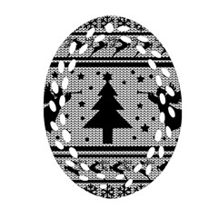 Ugly Christmas Sweater Oval Filigree Ornament (two Sides) by Valentinaart