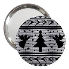 Ugly Christmas Sweater 3  Handbag Mirrors by Valentinaart