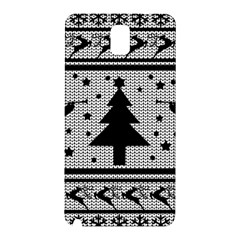 Ugly Christmas Sweater Samsung Galaxy Note 3 N9005 Hardshell Back Case by Valentinaart