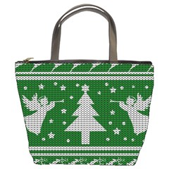 Ugly Christmas Sweater Bucket Bags by Valentinaart