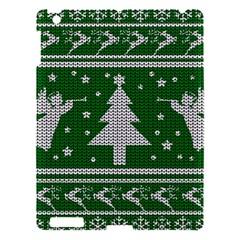 Ugly Christmas Sweater Apple Ipad 3/4 Hardshell Case by Valentinaart