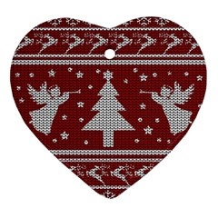 Ugly Christmas Sweater Ornament (heart) by Valentinaart