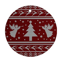 Ugly Christmas Sweater Round Ornament (two Sides) by Valentinaart