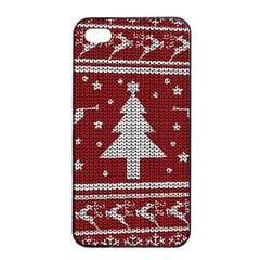 Ugly Christmas Sweater Apple Iphone 4/4s Seamless Case (black) by Valentinaart