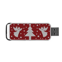 Ugly Christmas Sweater Portable Usb Flash (one Side) by Valentinaart