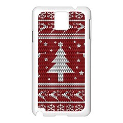 Ugly Christmas Sweater Samsung Galaxy Note 3 N9005 Case (white) by Valentinaart
