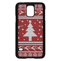 Ugly Christmas Sweater Samsung Galaxy S5 Case (black) by Valentinaart