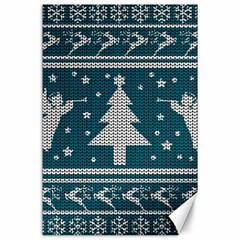 Ugly Christmas Sweater Canvas 24  X 36  by Valentinaart