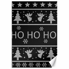 Ugly Christmas Sweater Canvas 12  X 18   by Valentinaart