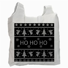 Ugly Christmas Sweater Recycle Bag (two Side)  by Valentinaart