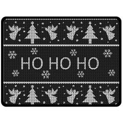 Ugly Christmas Sweater Fleece Blanket (large)  by Valentinaart
