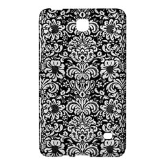 Damask2 Black Marble & White Leather (r) Samsung Galaxy Tab 4 (7 ) Hardshell Case  by trendistuff