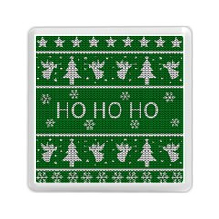 Ugly Christmas Sweater Memory Card Reader (square)  by Valentinaart