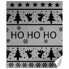 Ugly Christmas Sweater Canvas 8  X 10  by Valentinaart