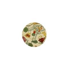 Floral Art Nouveau 1  Mini Buttons by 8fugoso