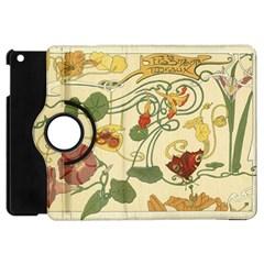 Floral Art Nouveau Apple Ipad Mini Flip 360 Case by 8fugoso