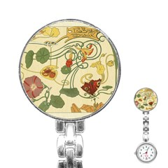 Floral Art Nouveau Stainless Steel Nurses Watch by 8fugoso