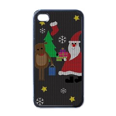 Ugly Christmas Sweater Apple Iphone 4 Case (black) by Valentinaart