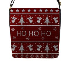 Ugly Christmas Sweater Flap Messenger Bag (l)  by Valentinaart