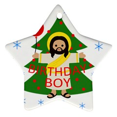 Jesus   Christmas Ornament (star) by Valentinaart