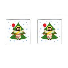 Jesus   Christmas Cufflinks (square) by Valentinaart