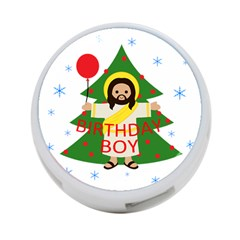 Jesus   Christmas 4 Port Usb Hub (one Side) by Valentinaart