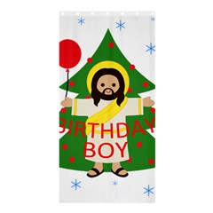 Jesus   Christmas Shower Curtain 36  X 72  (stall)  by Valentinaart