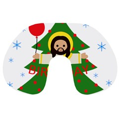Jesus   Christmas Travel Neck Pillows by Valentinaart