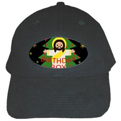 Jesus   Christmas Black Cap by Valentinaart