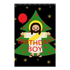 Jesus   Christmas Shower Curtain 48  X 72  (small)  by Valentinaart