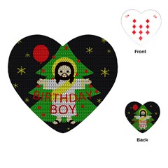 Jesus   Christmas Playing Cards (heart)  by Valentinaart
