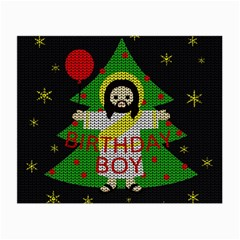 Jesus   Christmas Small Glasses Cloth (2 Side) by Valentinaart