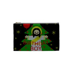 Jesus   Christmas Cosmetic Bag (small)  by Valentinaart