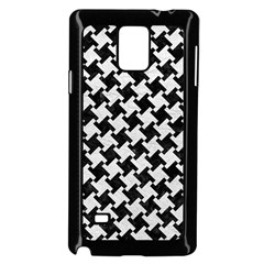 Houndstooth2 Black Marble & White Leather Samsung Galaxy Note 4 Case (black)