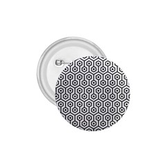 Hexagon1 Black Marble & White Leather 1 75  Buttons by trendistuff