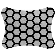 Hexagon2 Black Marble & White Leather Jigsaw Puzzle Photo Stand (bow) by trendistuff